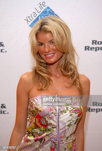 Marisa Miller during Sunglass Hut Swim Shows Miami Presented by LYCRA VIP Lounge Day 3 at Raleigh Hotel in Miami Beach Florida United States