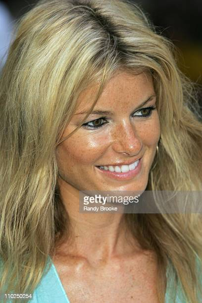 Marisa Miller during Sunglass Hut Swim Shows Miami Presented by LYCRA Welcome Reception at Raleigh Hotel in Miami Beach Florida United States