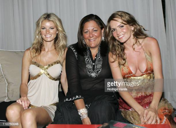 Marisa Miller Fern Mallis and Cindy Taylor during Sunglass Hut Swim Shows Miami Presented by LYCRA Official Kickoff Party at Raleigh Hotel in Miami...
