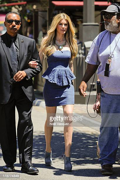 Marisa Miller is sighted at The Grove on July 17 2013 in Los Angeles California
