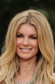 Marisa Miller visits 'Extra' at The Grove on July 17 2013 in Los Angeles California