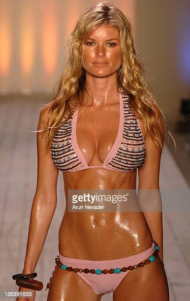Marisa Miller wearing Inca Summer 2007 during Sunglass Hut Swim Shows Miami 2007 Presented by LYCRA Inca Runway at The Raleigh Hotel in Miami Beach...