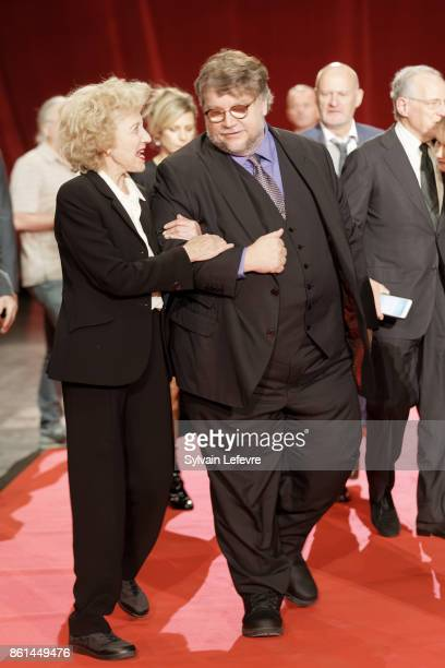 Marisa Paredes and Guillermo del Toro attends the opening ceremony of 9th Film Festival Lumiere In Lyon on October 14 2017 in Lyon France