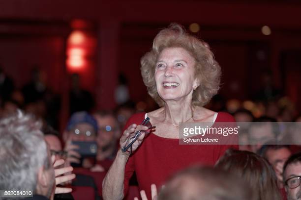 Marisa Paredes attends 'Welcome to Guillermo Del Toro' master class during 9th Film Festival Lumiere on October 16 2017 in Lyon France