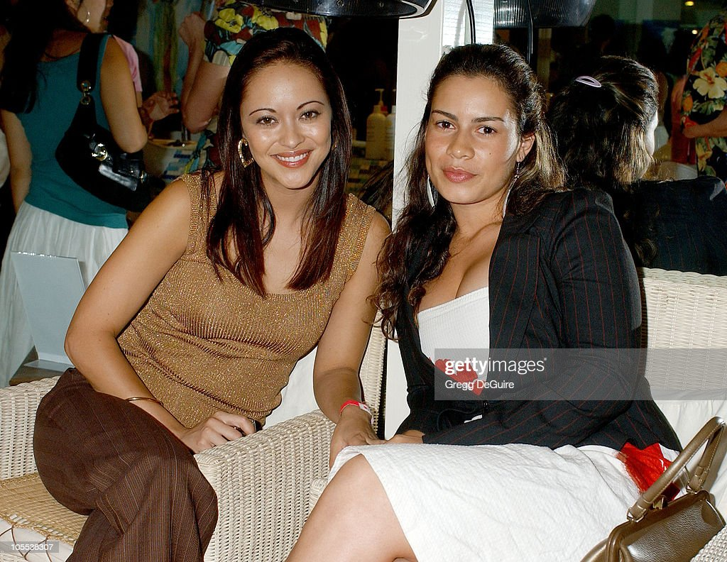 Marisa Ramirez and Christine Carlo during 'Be More You' Launch Party Arrivals at Point de Vue Salon in West Hollywood California United States
