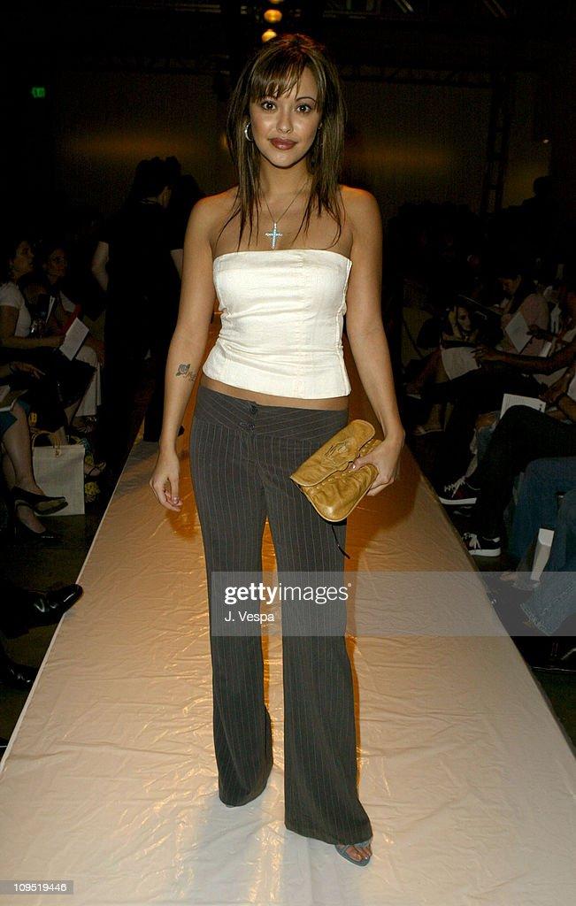 Marisa Ramirez during MercedesBenz Fall 2004 Fashion Week at Smashbox Studios Tomer Front Row at Smashbox Studios in Culver City California United...