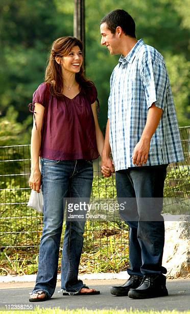 Marisa Tomei Adam Sandler during Jack Nicholson Adam Sandler and Marisa Tomei on Location for 'Anger Management' at Central Park in New York City New...