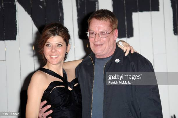 Marisa Tomei and Cleve Jones attend MANIFESTEQUALITY OPENING NIGHT PARTY on March 3 2010 in Hollywood California