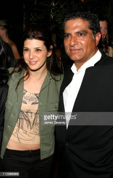 Marisa Tomei and Deepak Chopra during Opening of K in New York New York United States