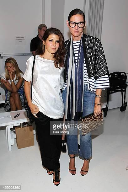 Marisa Tomei and Jenna Lyons attend the Zero Maria Cornejo fashion show during MercedesBenz Fashion Week Spring 2015 at Location 05 Studios on...