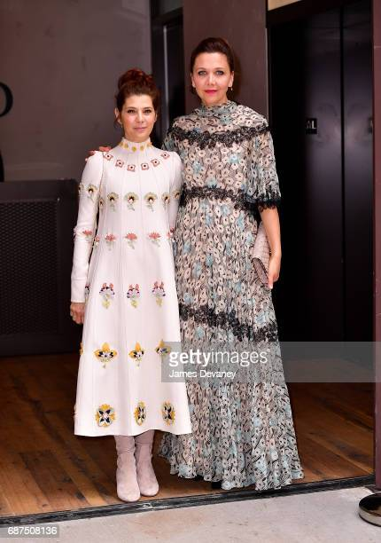 Marisa Tomei and Maggie Gyllenhaal seen on the streets of Manhattan on May 23 2017 in New York City