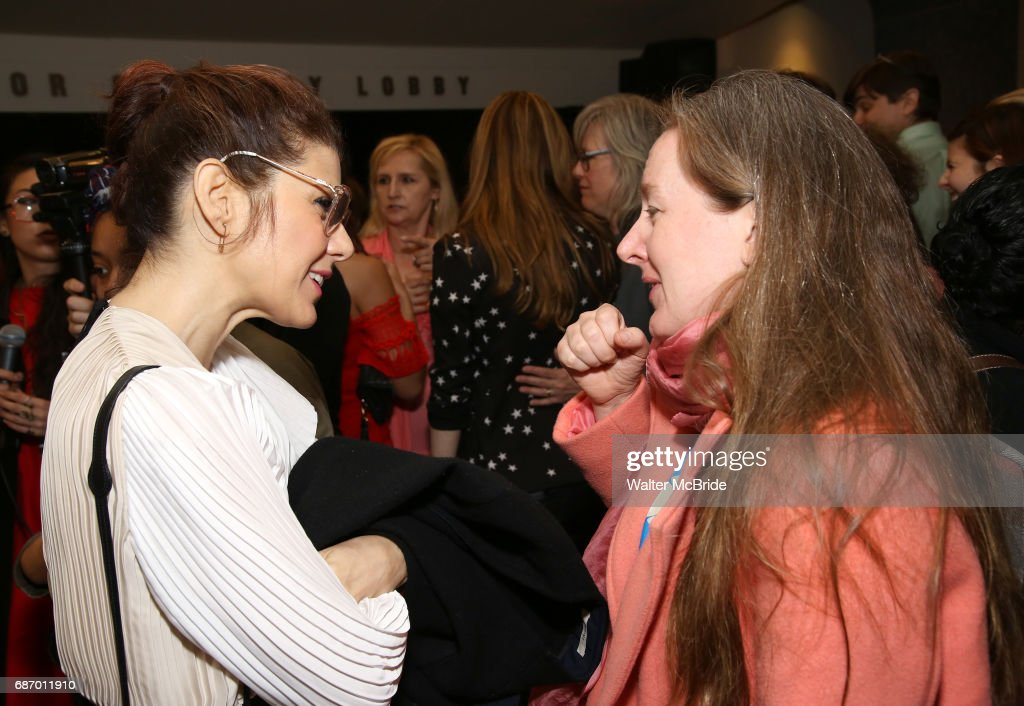 Marisa Tomei and Sarah Ruhl attend the 2017 Lilly Awards at Playwrights Horizons on May 22, 2017 in New York City.