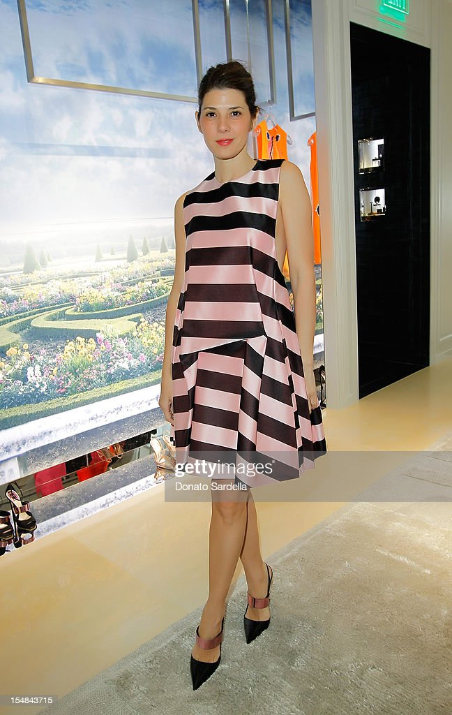 Marisa Tomei attends DIOR hosts exclusive preview of the Spring/Summer 2013 Pret-a-Porter Collection to celebrate the opening of the DIOR Beverly Hills boutique at Dior boutique on October 27, 2012 in Beverly Hills, California.