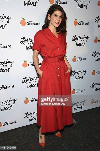 Marisa Tomei attends 'Loitering With Intent' New York Screening at SVA Theater on January 14 2015 in New York City