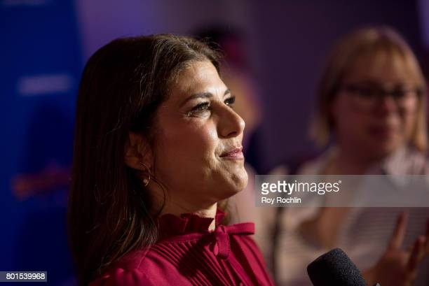 Marisa Tomei attends 'Spiderman Homecoming' New York First Responders' screening at Henry R Luce Auditorium at Brookfield Place on June 26 2017 in...