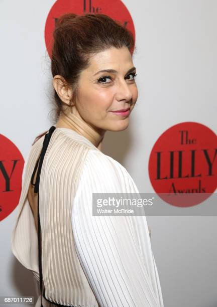 Marisa Tomei attends the 2017 Lilly Awards at Playwrights Horizons on May 22 2017 in New York City