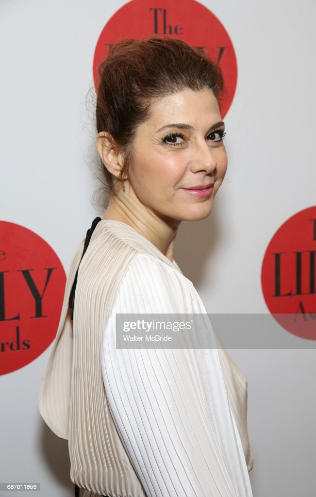 Marisa Tomei attends the 2017 Lilly Awards at Playwrights Horizons on May 22, 2017 in New York City.