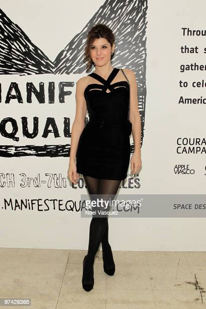 Marisa Tomei attends the ManifestEquality opening night party on March 3 2010 in Hollywood California