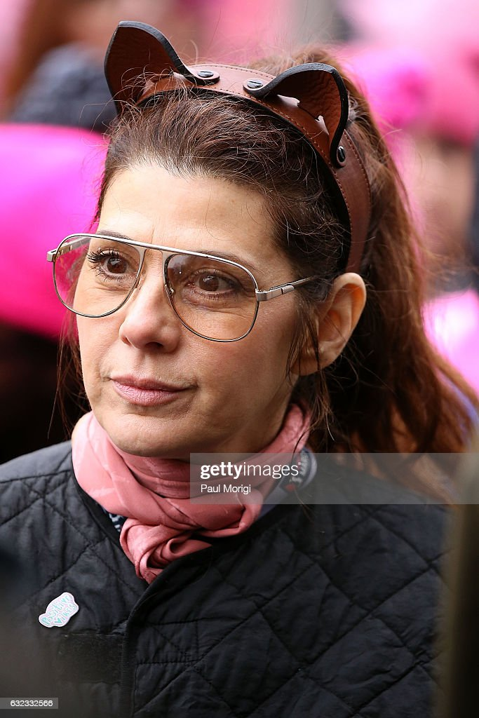 Marisa Tomei attends the rally at the Women's March on Washington on January 21, 2017 in Washington, DC.