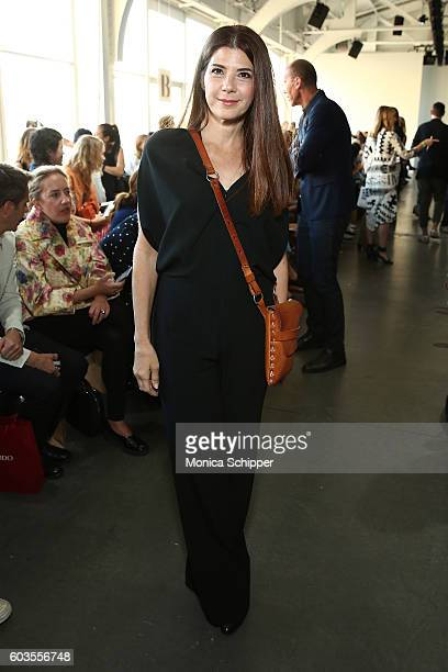 Marisa Tomei attends the Zero Maria Cornejo fashion show during New York Fashion Week September 2016 at Pier 59 Studios on September 12 2016 in New...