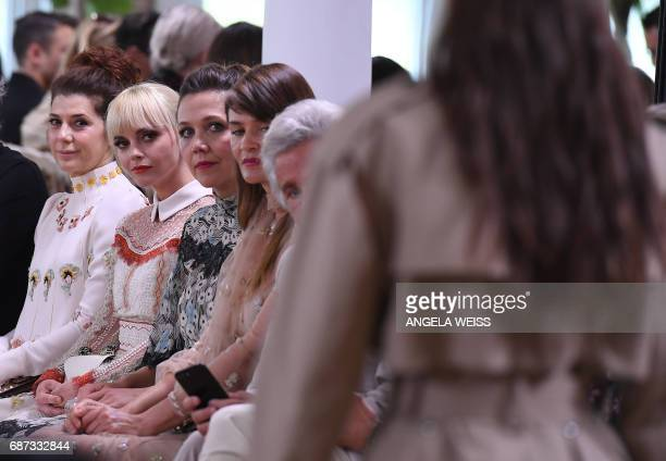 Marisa Tomei Christina Ricci Maggie Gyllenhaal and Helena Christensen attend the runway for the Valentino Resort 2018 runway show on May 23 2017 in...