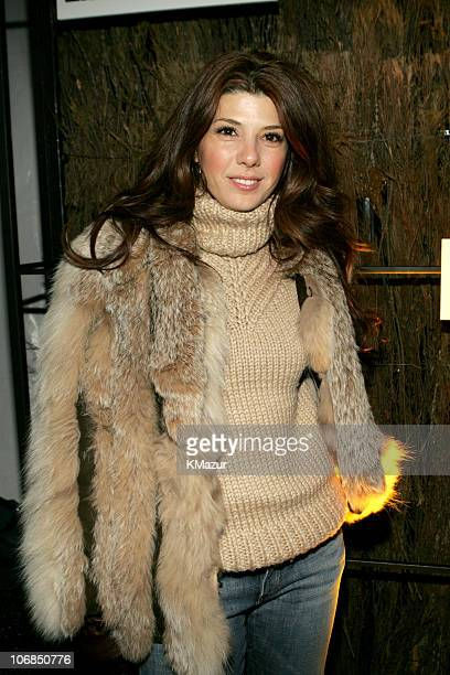 Marisa Tomei during 2005 Sundance Film Festival Entertainment Weekly Party Sponsored by Hewlett Packard at The Shop in Park City Utah United States