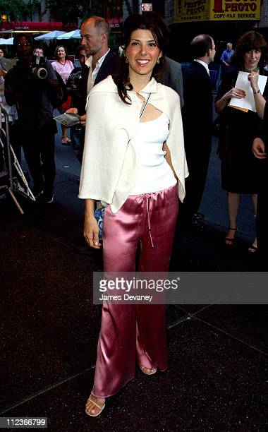 Marisa Tomei during 'Frankie and Johnny in the Clair de Lune' Opening Night at Belasco Theatre in New York City New York United States
