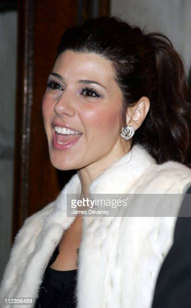 Marisa Tomei during Opening Night of Whoopi Goldberg's OneWoman Show 'WHOOPI' at Lyceum Theatre in New York City New York United States