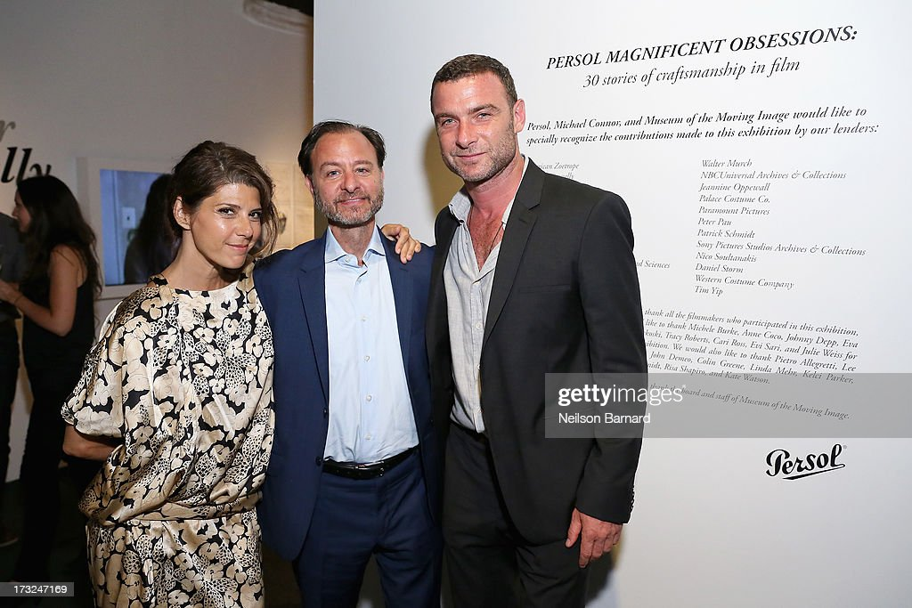 <a gi-track='captionPersonalityLinkClicked' href=/galleries/search?phrase=Marisa+Tomei&family=editorial&specificpeople=201516 ng-click='$event.stopPropagation()'>Marisa Tomei</a>, <a gi-track='captionPersonalityLinkClicked' href=/galleries/search?phrase=Fisher+Stevens&family=editorial&specificpeople=206958 ng-click='$event.stopPropagation()'>Fisher Stevens</a> and <a gi-track='captionPersonalityLinkClicked' href=/galleries/search?phrase=Liev+Schreiber&family=editorial&specificpeople=203259 ng-click='$event.stopPropagation()'>Liev Schreiber</a> attend the Persol Magnificent Obsessions event honoring Julie Weiss and Jeannine Oppewall at the MMI on July 10, 2013 in New York City.