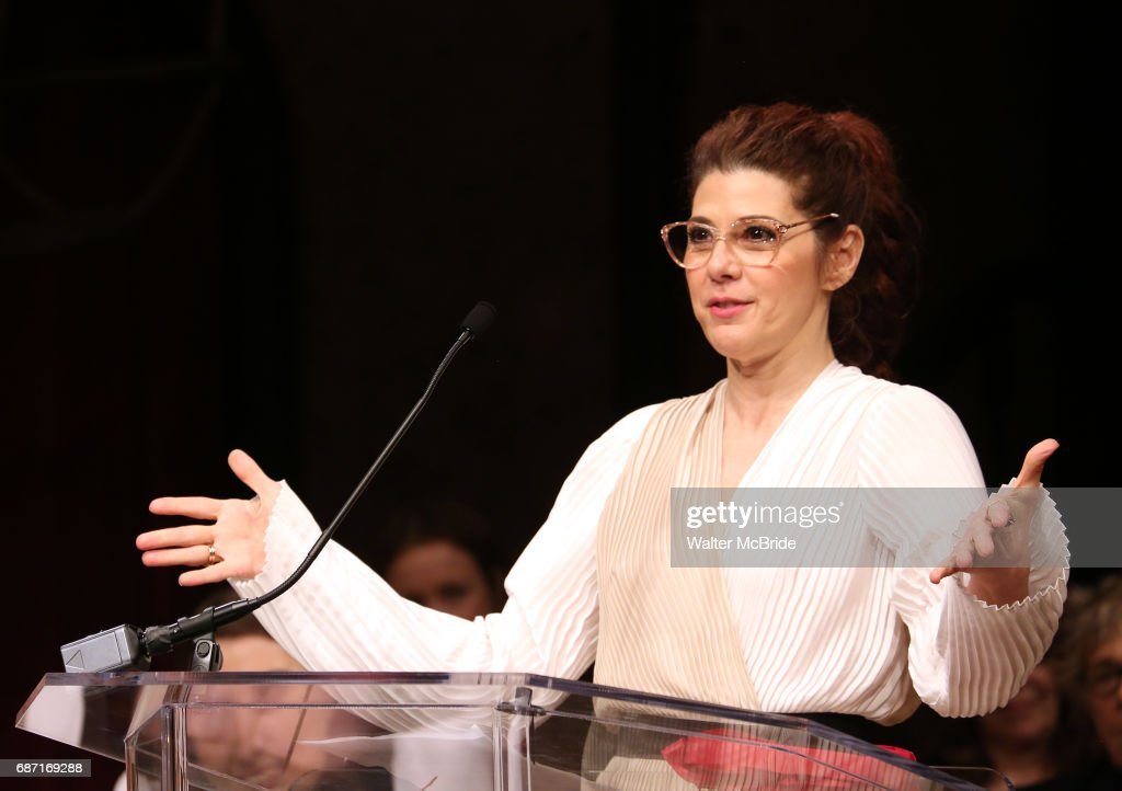Marisa Tomei on stage at the 2017 The Lilly Awards at Playwrights Horizons on May 22, 2017 in New York City.