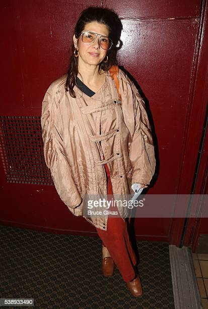 Marisa Tomei poses at The Opening Night of MCC Theater's 'A Funny Thing Happened on the Way to the Gynecologic Oncology Unit at Memorial...