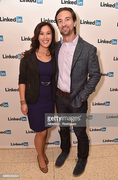 Marisa Wong Senior Editor LinkedIn and James Weaver President Point Grey Pictures attend The LinkedIn Discussion Series Presents Sony's 'The Night...
