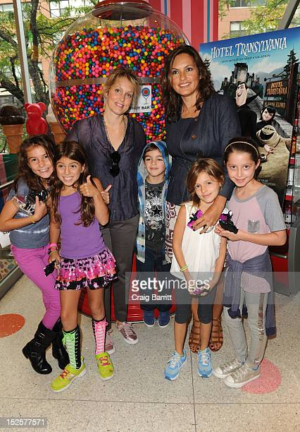 Mariska Hargitay and Alexandra Wentworth attend the 'Hotel Transylvania' New York Premiere After Party at Dylan's Candy Bar on September 22 2012 in...