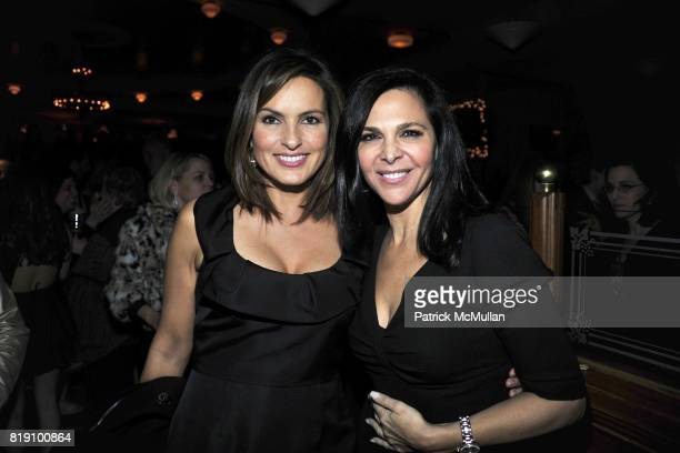 Mariska Hargitay and Barbara Manocherian attend NEXT FALL Opening Night at the Helen Hayes Theatre Party at Bond 45 on March 11 2010 in New York City