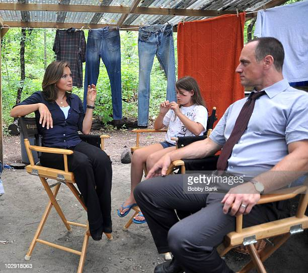 COVERAGE*** Mariska Hargitay and Christopher Meloni first day filming on location for 'Law Order SVU' 12th season on the streets of Manhattan on July...