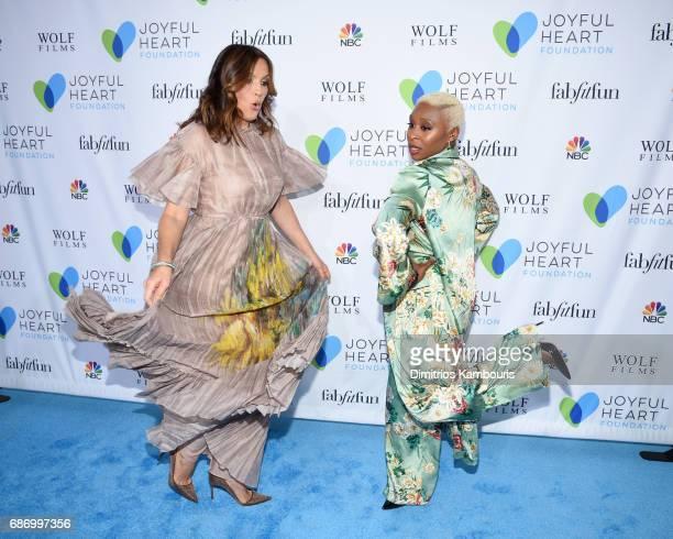 Mariska Hargitay and Cynthia Erivo dance on the carpet at The Joyful Revolution Gala In New York City hosted by Mariska Hargitay's Joyful Heart...