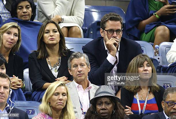 Mariska Hargitay and her husband Peter Hermann attend the Men's Final on day fourteen of the 2015 US Open at USTA Billie Jean King National Tennis...