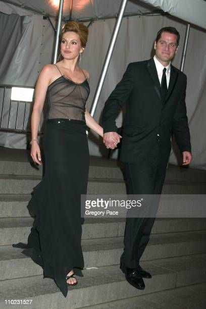 Mariska Hargitay and husband Peter Hermann during The Costume Institute's Gala Celebrating 'Chanel' Departures at The Metropolitan Museum of Art in...