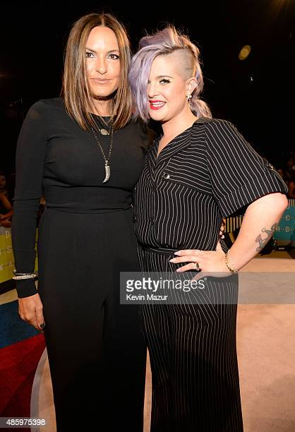Mariska Hargitay and Kelly Osbourne attend the 2015 MTV Video Music Awards at Microsoft Theater on August 30 2015 in Los Angeles California