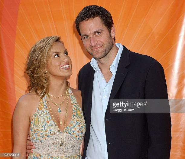 Mariska Hargitay and Peter Hermann during 2005 NBC Network All Star Celebration Arrivals at Century Club in Los Angeles California United States