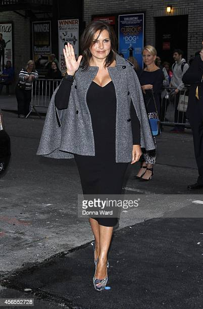 Mariska Hargitay arrives for the 'Late Show with David Letterman' at Ed Sullivan Theater on October 2 2014 in New York City