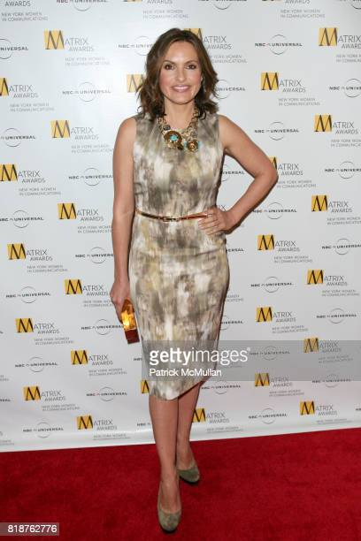 Mariska Hargitay attends New York WOMEN IN COMMUNICATIONS Presents The 2010 MATRIX AWARDS at Waldorf Astoria on April 19 2010 in New York City
