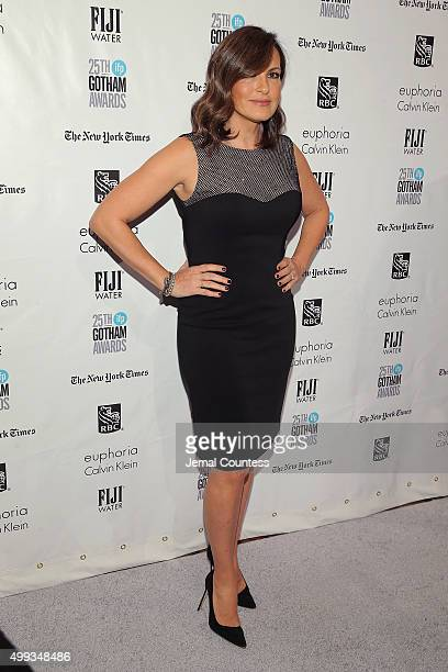 Mariska Hargitay attends the 25th IFP Gotham Independent Film Awards cosponsored by FIJI Water at Cipriani Wall Street on November 30 2015 in New...