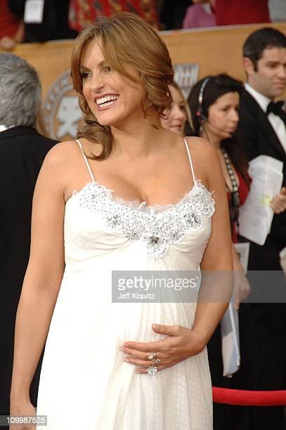 Mariska Hargitay during 12th Annual Screen Actors Guild Awards Arrivals at Shrine Auditorium in Los Angeles CA United States