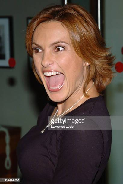Mariska Hargitay during HP and Barneys New York Launch Exclusive Designer Computing Accessories at Barneys New York in New York City New York United...