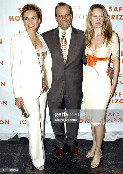 Mariska Hargitay Joe Torre and Stephanie March during Safe Horizon 10th Annual Champion Awards Luncheon Honoring Ali Torre and Joe Torre at The 69th...