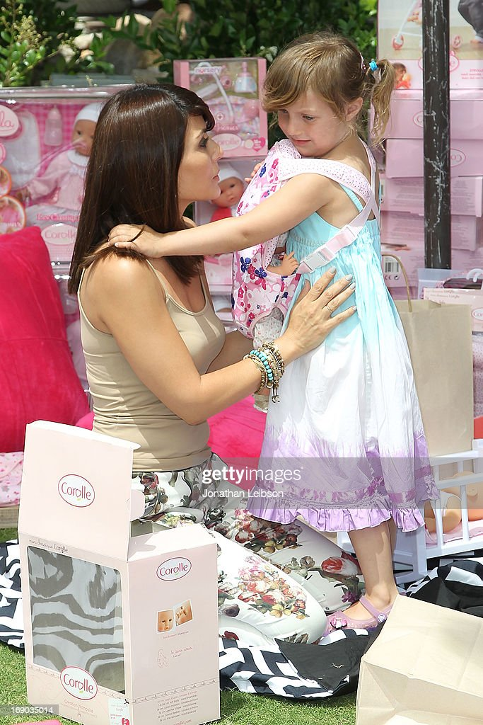 Marisol Nichols and Rain india Lexton attend the Corolle Adopt a Doll Event at The Grove on May 18, 2013 in Los Angeles, California.