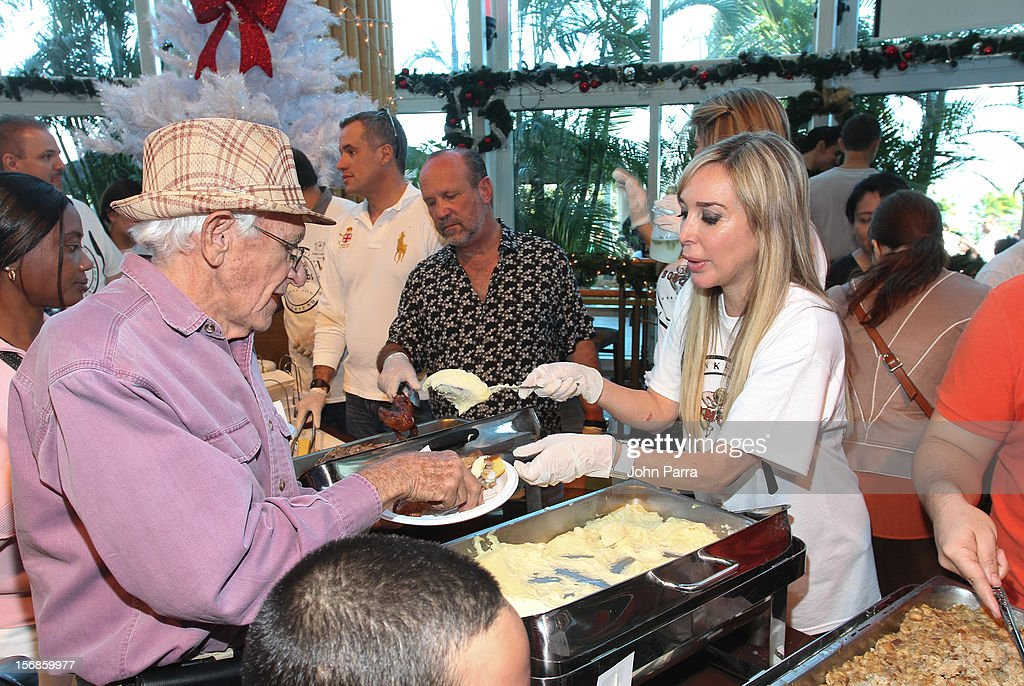 Marisol Patton participate in 5th Annual Thanksgiving Feed A Friend at Bongos on November 22, 2012 in Miami, Florida.