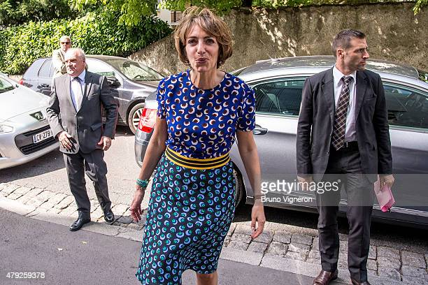 Marisol Touraine French Minister of Social Affairs and Health visits a retirement home on July 2 2015 in Lyon France Marisol Touraine visited the...