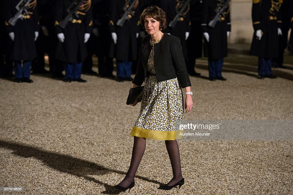 <a gi-track='captionPersonalityLinkClicked' href=/galleries/search?phrase=Marisol+Touraine&family=editorial&specificpeople=4398004 ng-click='$event.stopPropagation()'>Marisol Touraine</a>, French Minister of Social Affairs arrives at Elysee Palace as French President Francois Hollande receives the Cuban President Raul Castro for a State Diner on February 1, 2016 in Paris, France. During the visit of Cuban President in Franche, around a dozen commercial, tourism and fair trade contracts were signed as France want to be the leader on the Cuban market.
